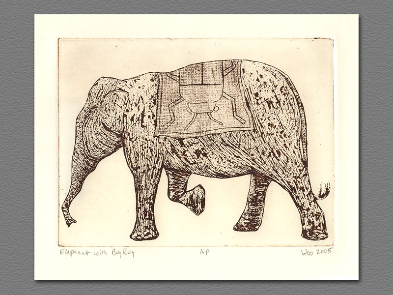 Previous Etching · Etching   Elephant With Bug Rug ...